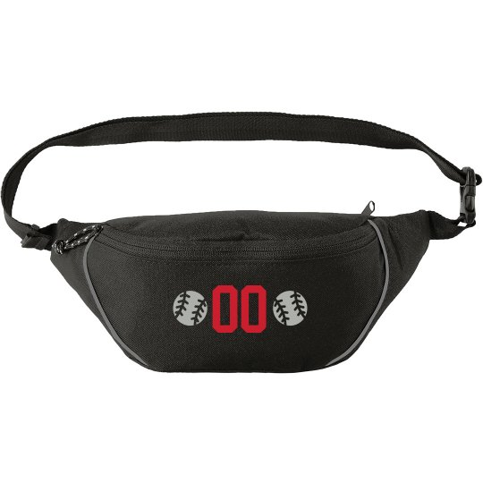 Softball Player Number Fanny Pack