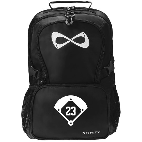 Softball Player Team Number Nfinity Backpack