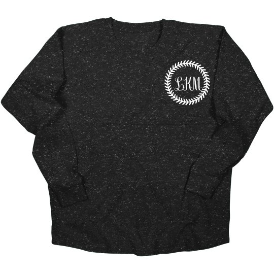 Softball Slub Custom Monogram