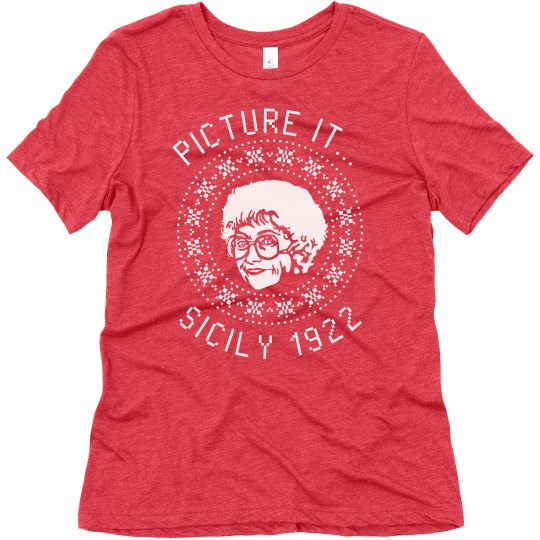 Sohpia Golden Girls Ugly Chrismas T-Shirt