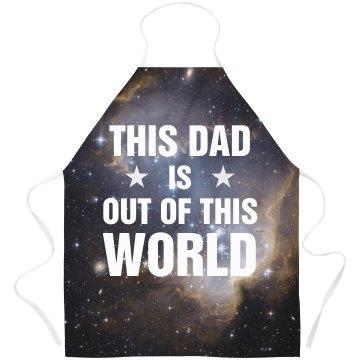 Space Dad Apron