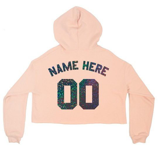 Sparkle Football Cropped Hoodie