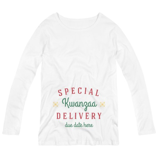 Special Kwanzaa Delivery Maternity Top