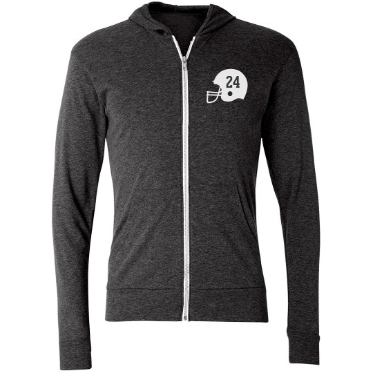 Specially Made Team Name, Number, Football Hoodie
