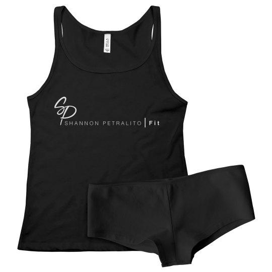 SPFIT PJ Set Black / White Logo