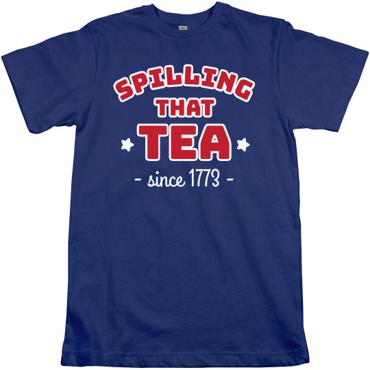 Spilling Tee July 4th Shirt
