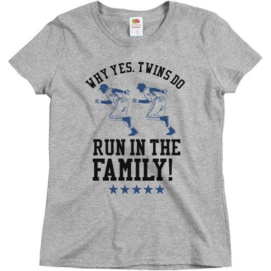 Sports Mom of Baseball Twins Custom Shirt