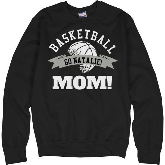 Sporty and Trendy Basketball Mom Custom Fleece Sweater