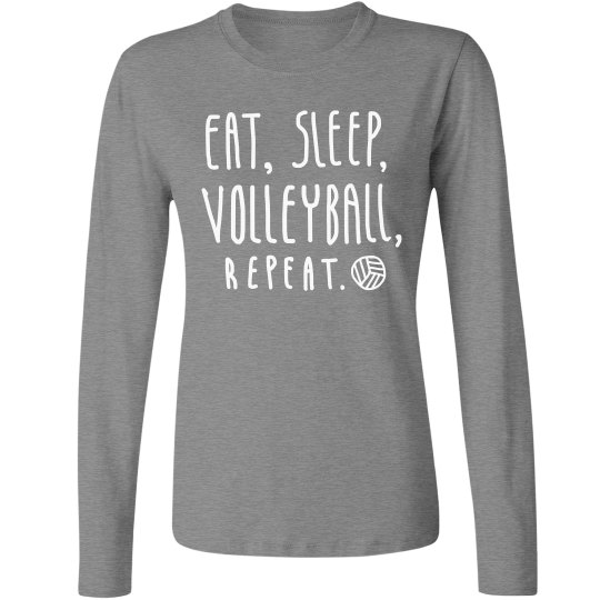 Sporty Eat Sleep Volleyball Repeat