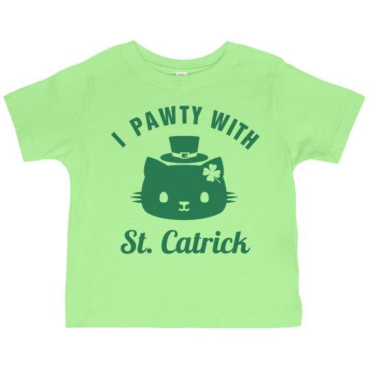 St Catricks Day Toddler Cat Puns