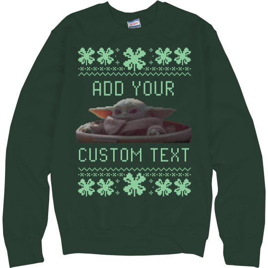 St Patrick's Baby Alien Ugly Sweater
