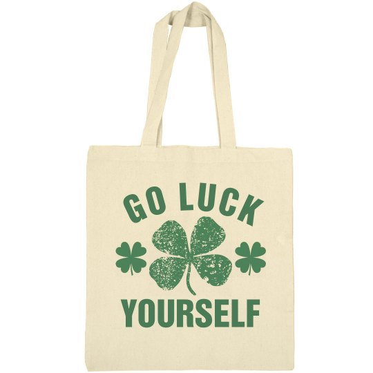 St Patricks Day Tote Bag Luck