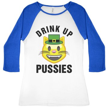 St Pattys Funny Cat Emoji Girl