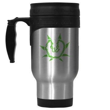 Stainless Steel & Green Mug