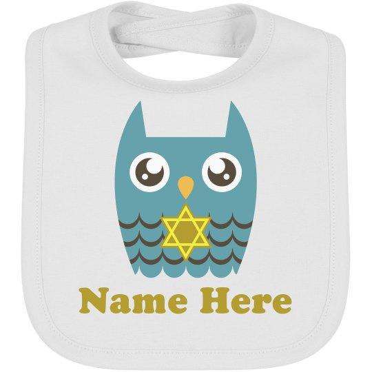 Star of David Owl Bib