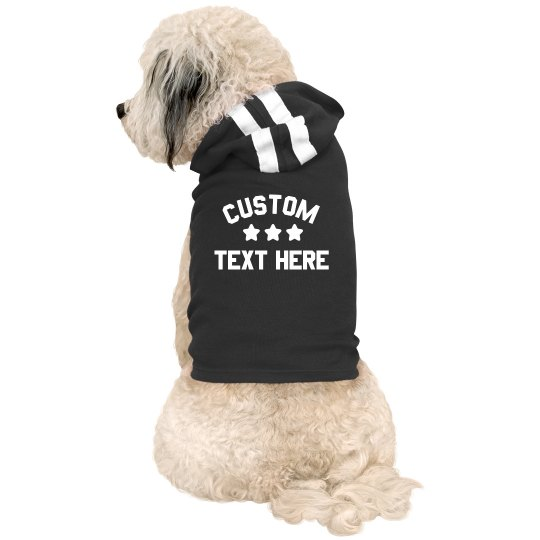 Starred Custom Text Dog Hoodie