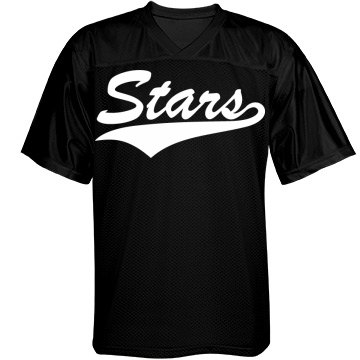 Stars custom name and number sports jersey