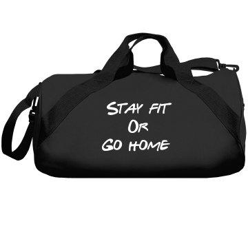 Stay fit gym bag