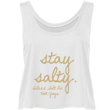 Stay Salty White Tank