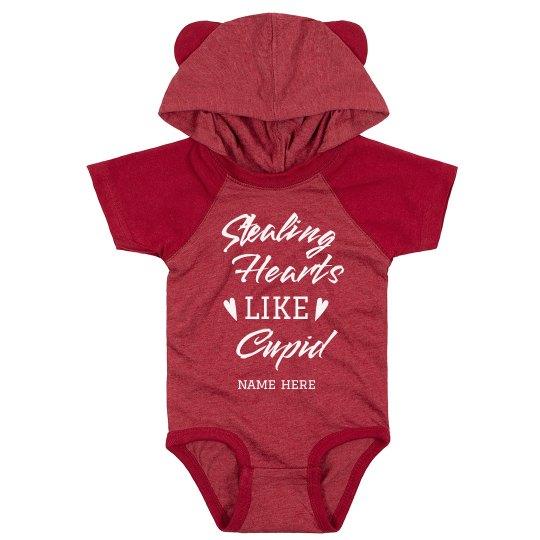 Stealing Hearts Like Cupid Custom Baby Bodysuit