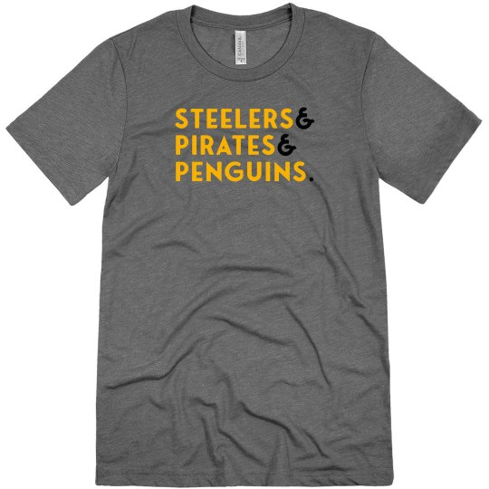 Steelers & Pirates & Penguins Grey