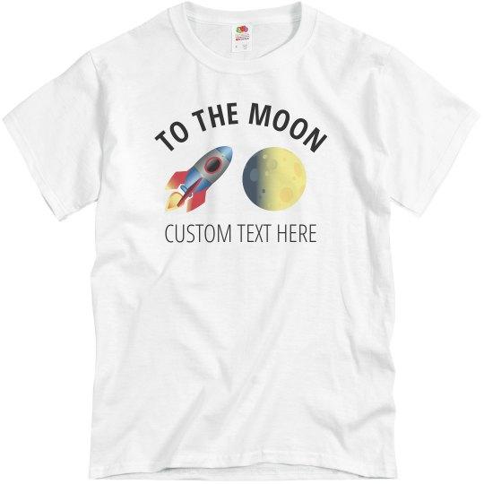 Stonks to the Moon Custom Tee