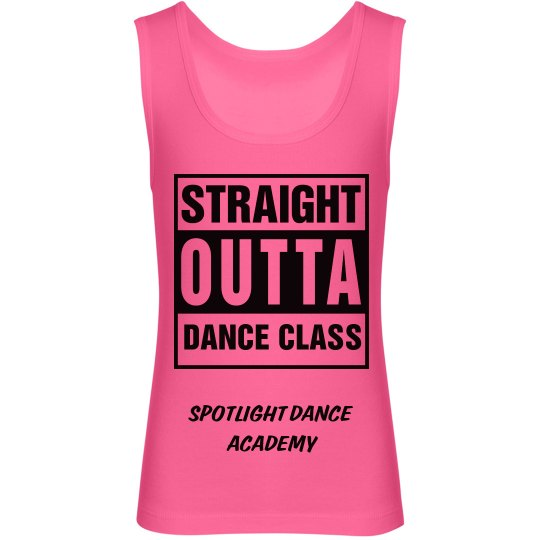 Straight Outta Dance Tank-Youth