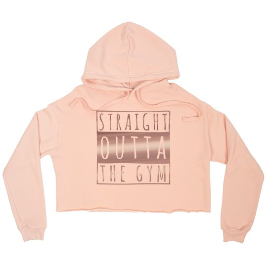 Straight Outta The Gym cropped hoodie