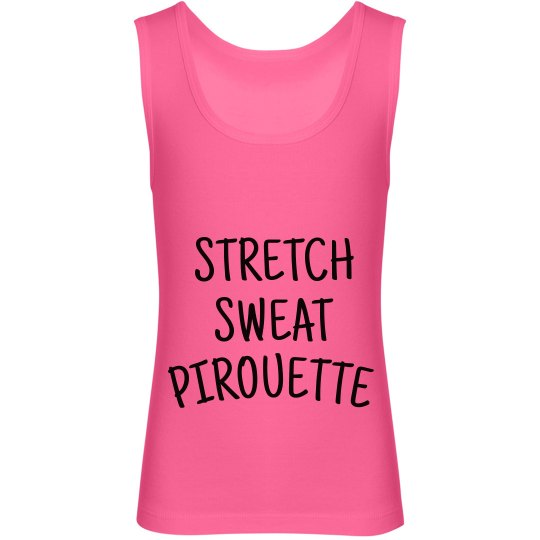 Stretch Sweat Pirouette Tank-Youth