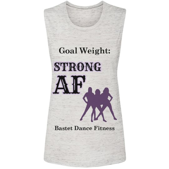Strong AF - Flowy Scoop Muscle Tank