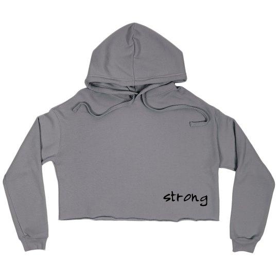Strong Crop Hoodie Sweatshirt