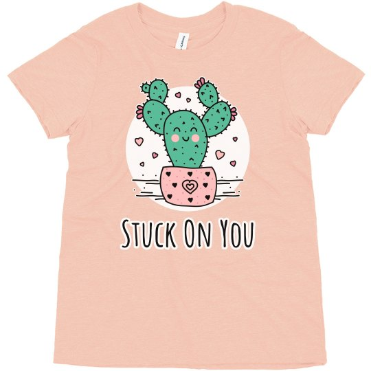 Stuck On You Kids Valentine Cactus