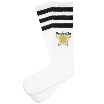 Superfly gold star socks