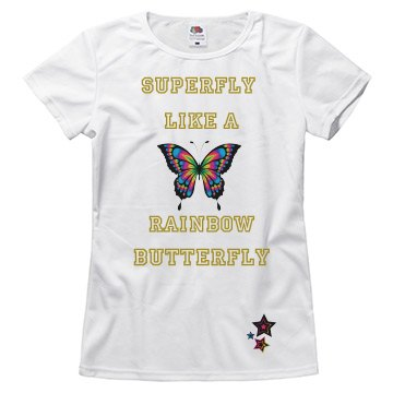 Superfly like a rainbow butterfly top