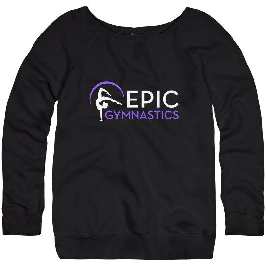 Sweatshirt - black with purple