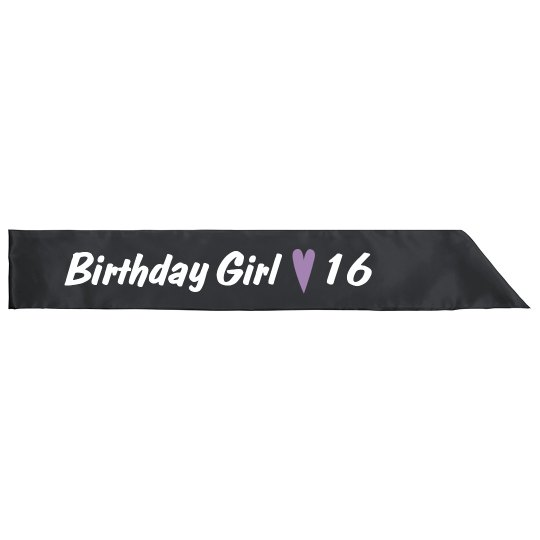 Sweet Sixteen Birthday Bash Sash