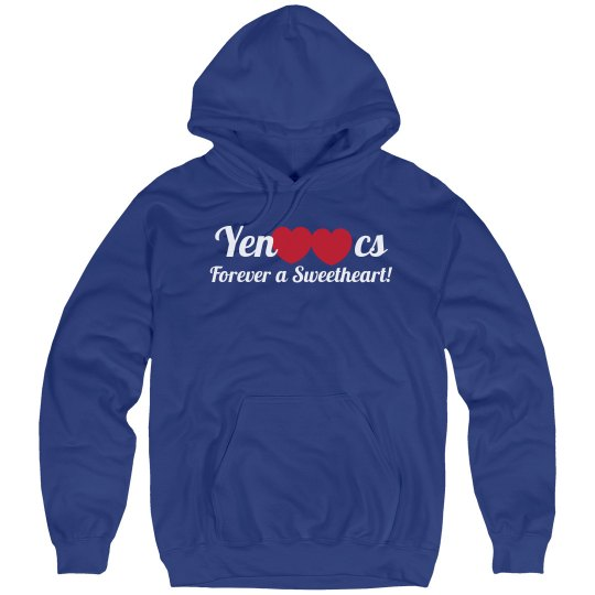 Sweetheart, Forever, 2 hearts, Blue Hoodie