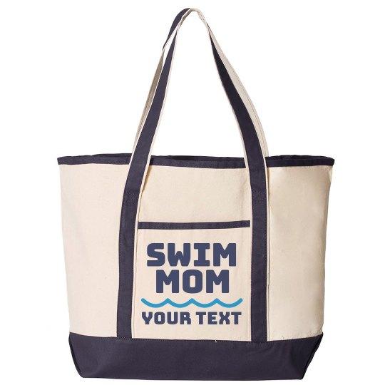 Swim Mom Custom Tote Bag