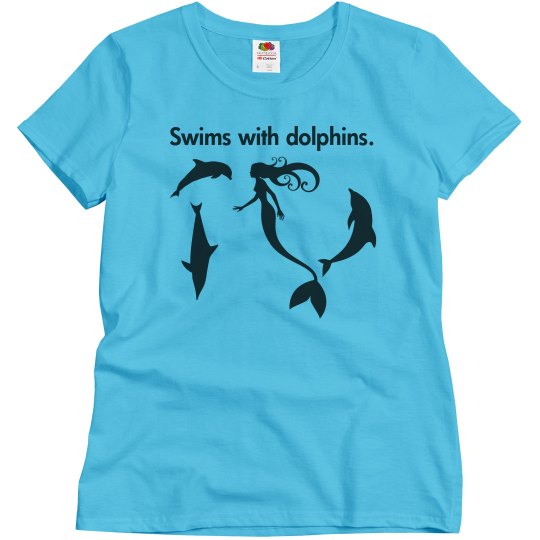 Swims With Dolphins Tee