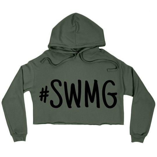 SWMG cropped hoodie