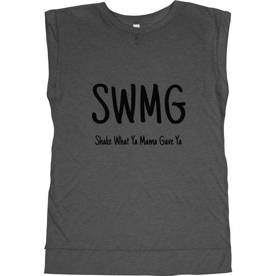 SWMG Flowy Muscle Tee w/Rolled Cuffs