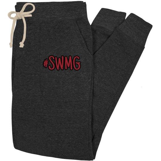 SWMG hashtag slim-fit joggers
