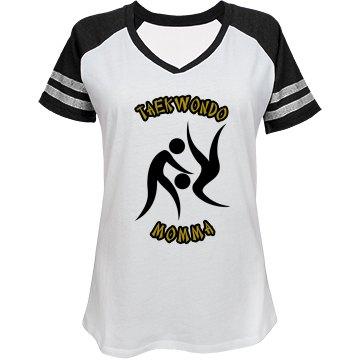 Taekwondo Momma gold/black