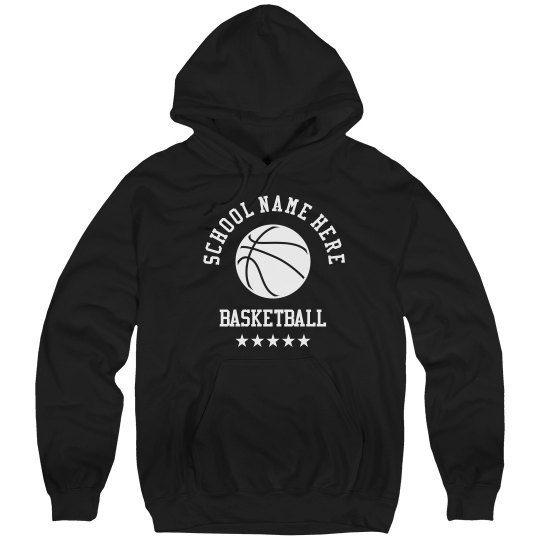 Tailor-Made, School Name, Basketball Hoodie