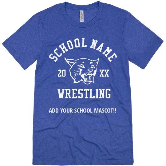 Tailor-Made School Name Logo Wrestling T-Shirt