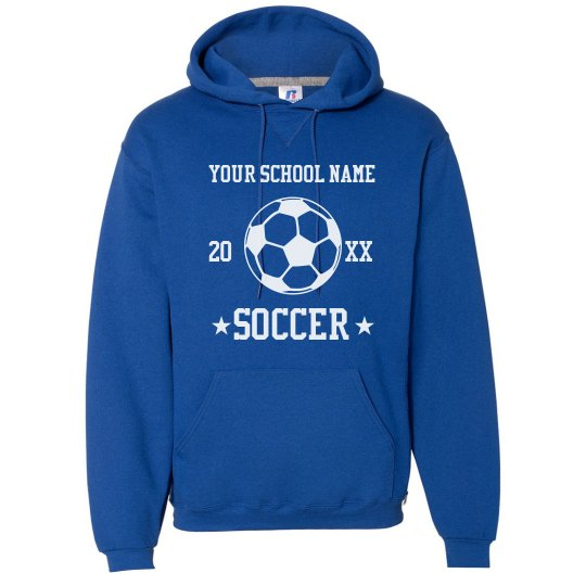 Tailor-Made Your School Name Soccer Hoodie
