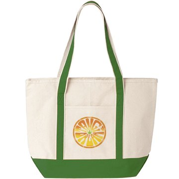 Tangi Beach Bag Green/Wht