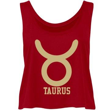 Taurus Flowy Crop Top Tank©