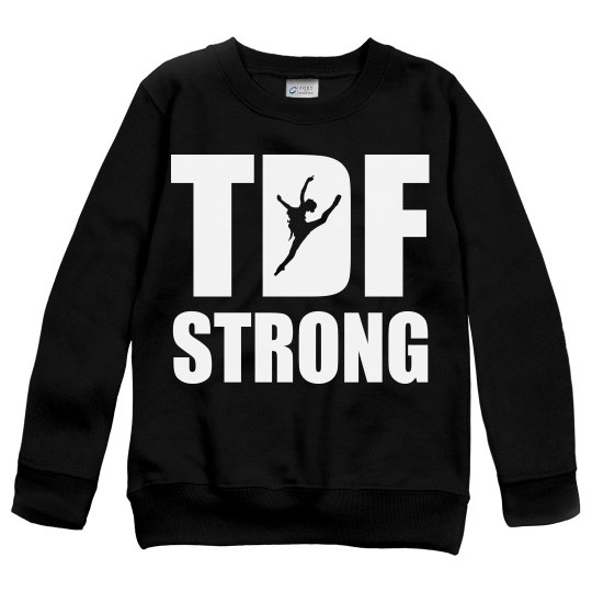 TDF STRONG YOUTH SWEATSHIRT (girl jumping)