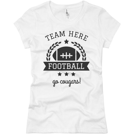 Team & Mascot Football Emblem Custom Tee